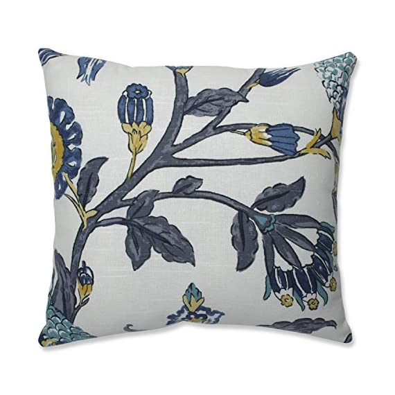 Pillow Perfect 618449 Auretta Peacock Throw Pillow, 16.5-inch, Grey - Includes one (1) decorative throw pillow filled with 100-percent polyester fiber filling; suitable for indoor use Edges of pillow are knife edge with a sewn seam closure Easy care - lightly spot clean or handle wash fabric with mild detergent and cool water; then let air dry - patio, outdoor-throw-pillows, outdoor-decor - 51KCyV 0qyL. SS570  -