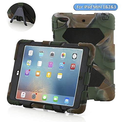 Aceguarder iPad Mini 1&2&3 Case Rainproof Shockproof Kids Proof Case for iPad Mini 1 Mini 2&3 (CAMO-BLACK)