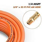 "WYNNsky 3/8"" X 25ft PVC Air Compressor Hose Kit"
