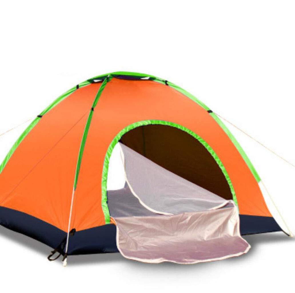 JBHURF Automatisches offenes Zelt für 3-4 Personen. Einfach aufzubauen. Zelt im Freien (Farbe : Orange)