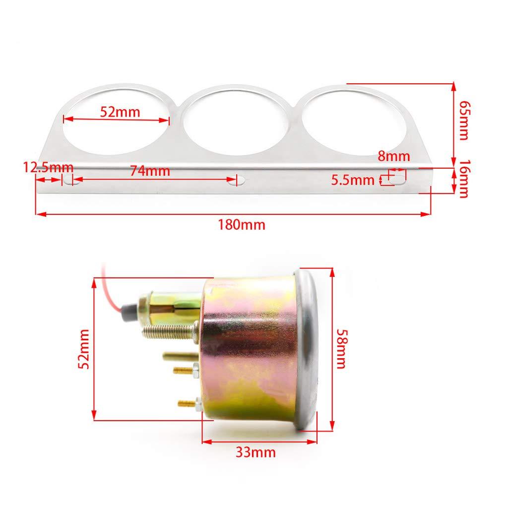 Jauge De Tension Voiture Jauge Pression Dhuile non-brand 2inch 52mm 12v Temp/érature deau /électrique