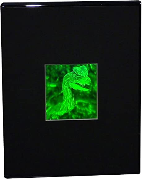 3D Jurassic Spitter Dinasaur 2-Channel Hologram Picture Desk Stand , Collectible Photopolymer Type Film