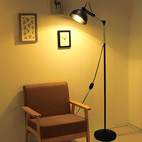 LOULAX Floor Lamp Dimmable Adjustable Reading Sunlight Lamps, 53.5 Inch  Tall Contemporary Modern Standing Light For Living Room Bedrooms Office