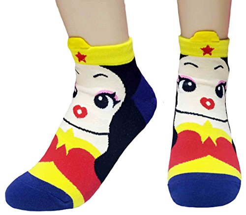 (JJMax Women's Superheroes and Villains Cute Cartoon Hero Socks)