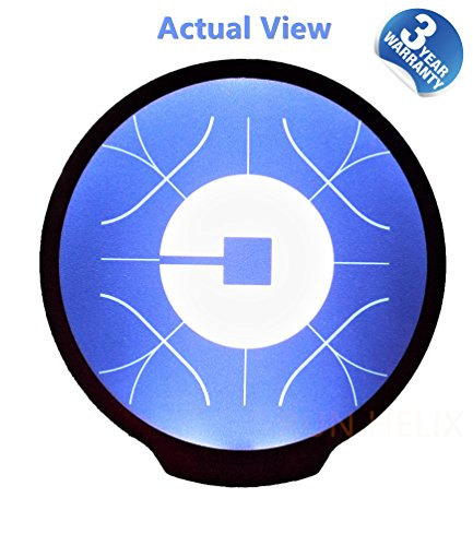 Uber Light Sign Logo Sticker Decal Reflective Bright Glowing Wireless Removable New UBER Sign Logo Decal Flashing Car Cycle Sticker White Light UBER Sign Decal With Diameter Of 4.6¡¡¯ For UBER Driver