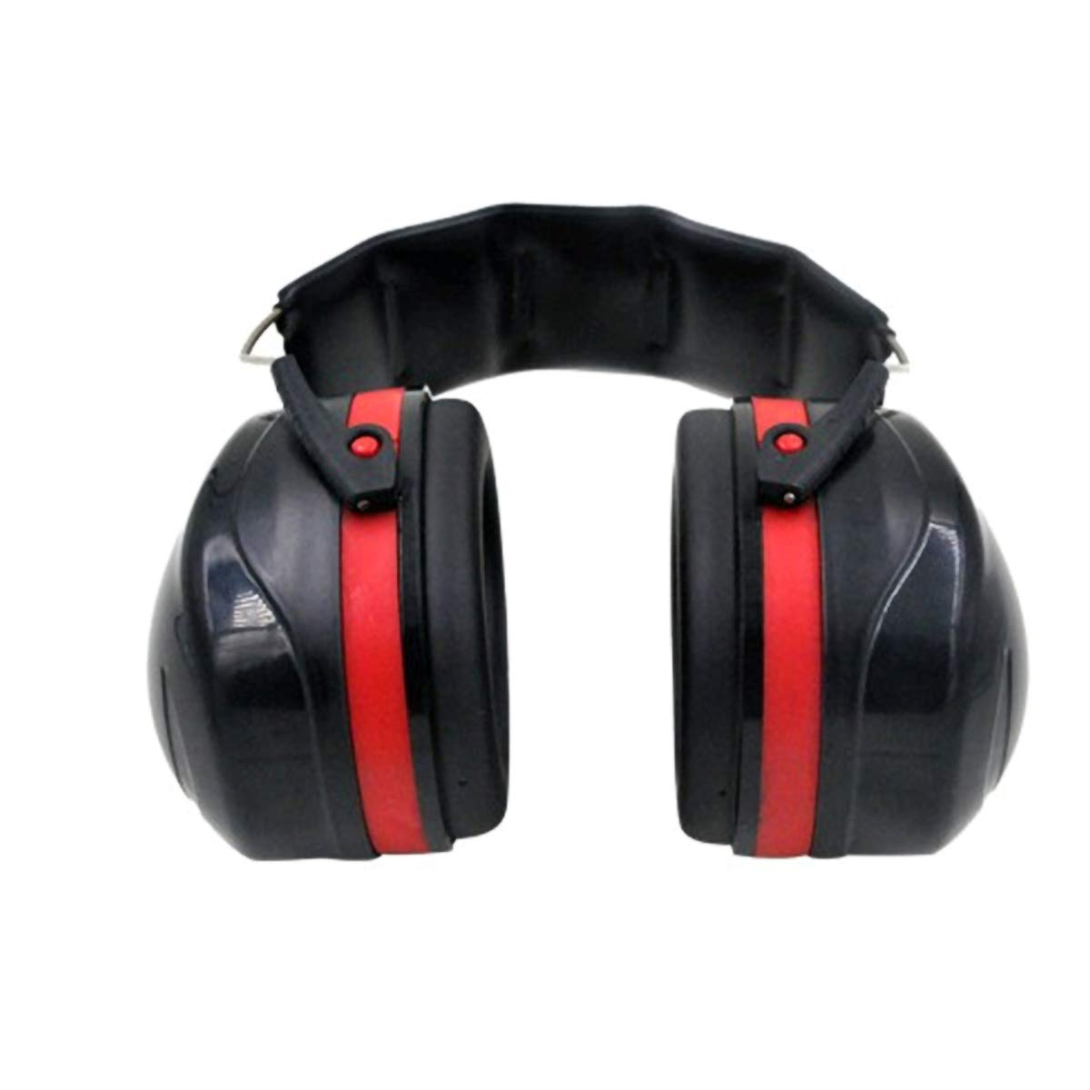 2TRIDENTS Sound-Proof Earmuffs Noise Reducing Ear Protection Headwear for Outdoor Activities Shooting Hunting (Red) by 2TRIDENTS