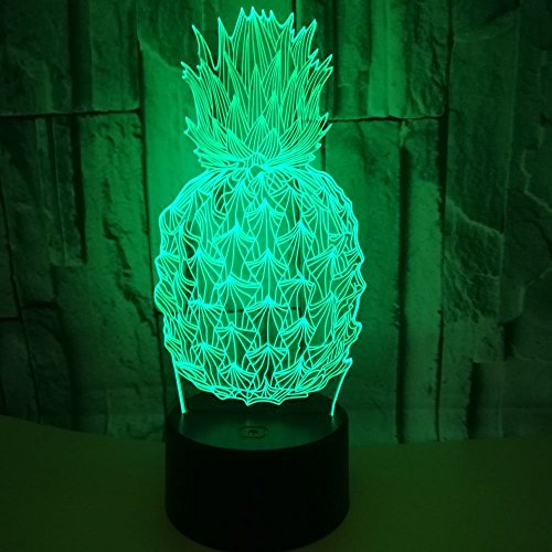 Pineapple Lamp 3D Night Light Optical Illusion LED Lighting Home Decor by Yooce