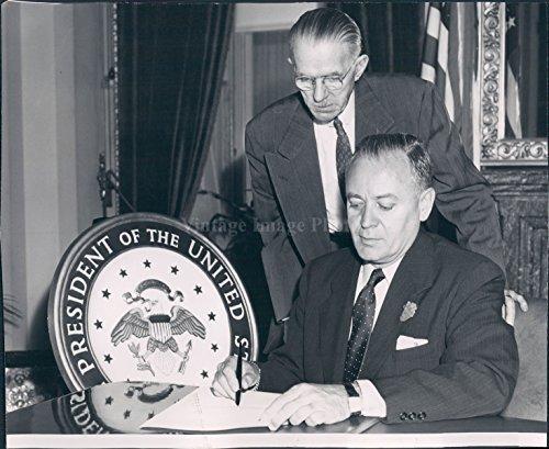 1954 Photo US Senator Styles Bridges Harry Burke Congressman (Senator Styles Bridges)