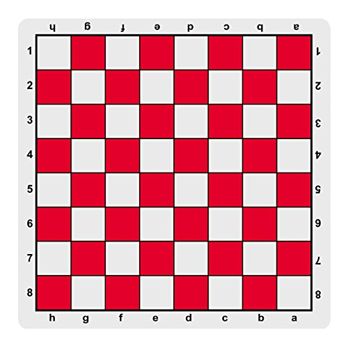 WE Games Red Mousepad Chess Board, 20 inches - made in USA