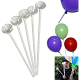Dazzling Toys 72 Pcs Plastic White Balloon Sticks with Cup Party Decor