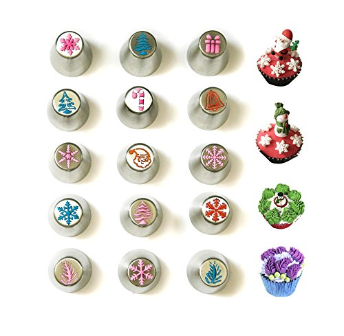 JJMG NEW Russian Icing Piping Tips Christmas Design For Cakes Cupcakes Cookies - Decoration Pastry Baking Tools by JJMG