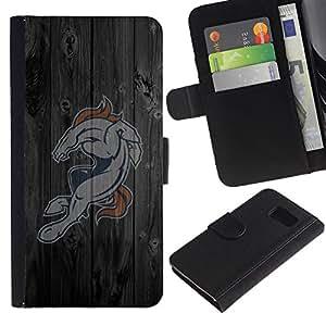 // PHONE CASE GIFT // Moda Estuche Funda de Cuero Billetera Tarjeta de crédito dinero bolsa Cubierta de proteccion Caso Sony Xperia Z3 Compact / Horse Sports Team /
