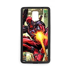 Deadpool Marvel Hero Unique Printing Skin Shell Pattern Phone Case for SamSung Galaxy Note4,TPU+PC Material Diy Cover Case Note4-linda747