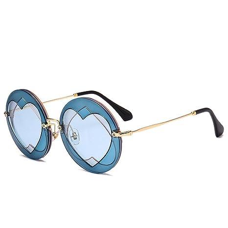 Z&YQ Occhiali da sole per donna Fashion Metal Frame Anti-UV Street beat travel Eyewear, E