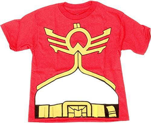 Mighty Morphin Power Rangers Megaforce Youth Red Costume T-shirt (Youth (Red Power Ranger Megaforce Costume)