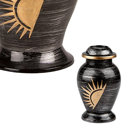 Perfect Memorials Half Sun Keepsake Cremation Urn