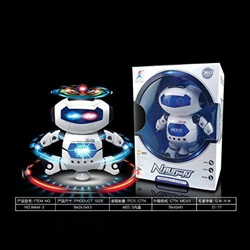 (Electric Smart Space Walking Dancing Robot Children Kids Music Light Toys Robots)