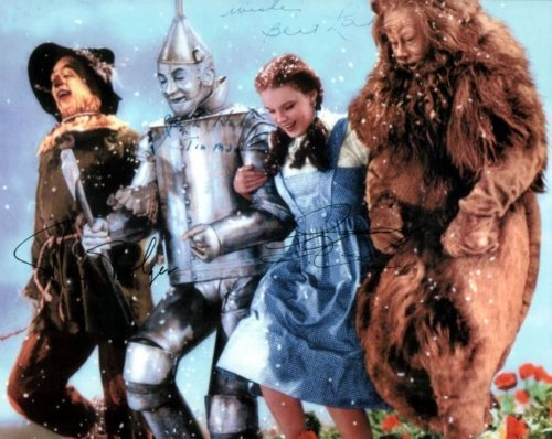 Judy Garland Wizard of Oz Cast Signed Autographed 8 X 10 Reprint Photo - Mint Condition