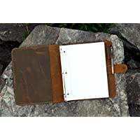 Leather business portfolio 3 ring binder for letter size 3 hole refill paper/leather organizer folder for 8.5 x 11 refillable paper,Business portfolio organizer