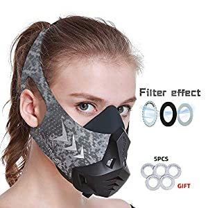 FDBRO Sports Mask 12 Breathing Levels Pro Workout Mask for Training Fitness,Running,Resistance,Cardio,Endurance Mask for…