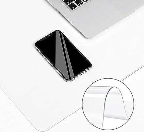 Alfombrilla de escritorio transparente de borde redondo, cubierta ...