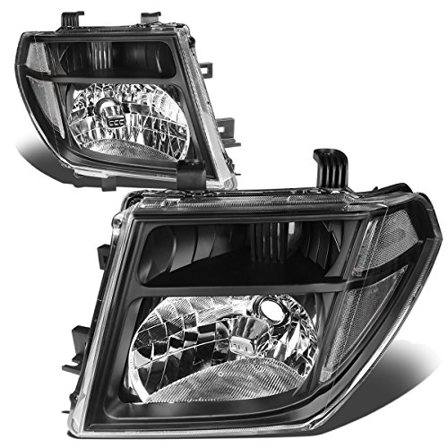 For Nissan Frontier/Pathfinder 2nd Gen D40 Pair of Black Housing Clear Corner Headlight Replacement