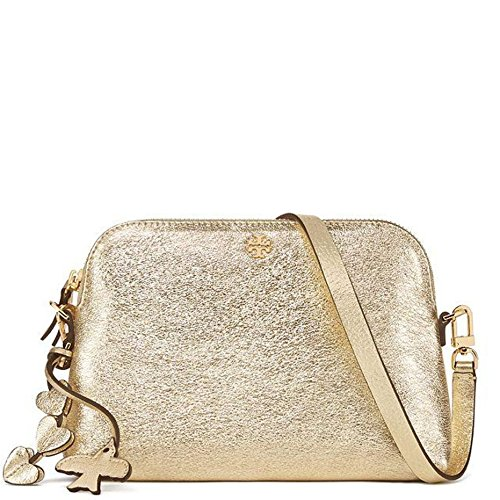 Tory Burch Crossbody Bag Leather Peace Love - Gold Tory Burch
