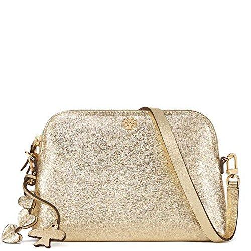 Tory Burch Crossbody Bag Leather Peace Love - Tory Burch Gold Bag