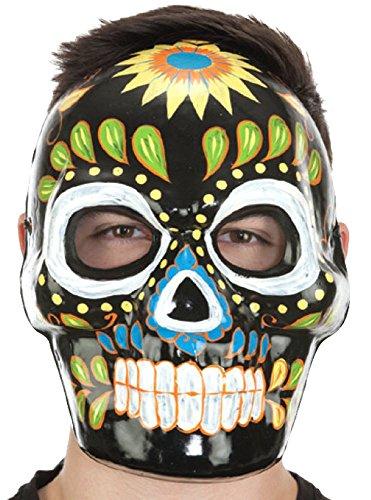 Full Face Black Day Of Dead Mask ()