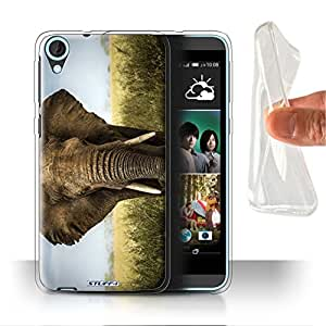 STUFF4 Gel TPU Phone Case / Cover for HTC Desire 820 / Elephant Design / Wildlife Animals Collection