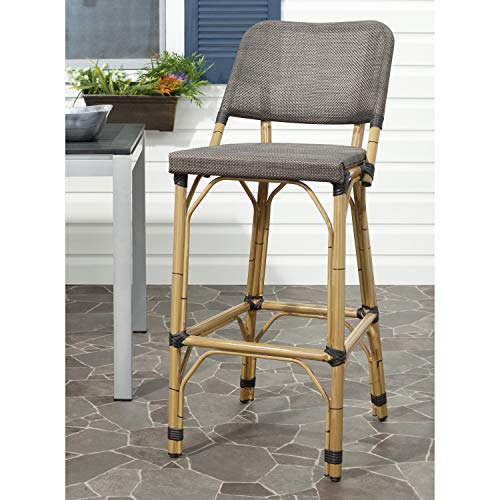- Safavieh Home Collection Deltana Brown Indoor/ Outdoor 29.5-inch Bar Stool