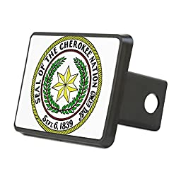 CafePress - Seal Of Cherokee Nation - Trailer Hitch Cover, Truck Receiver Hitch Plug Insert