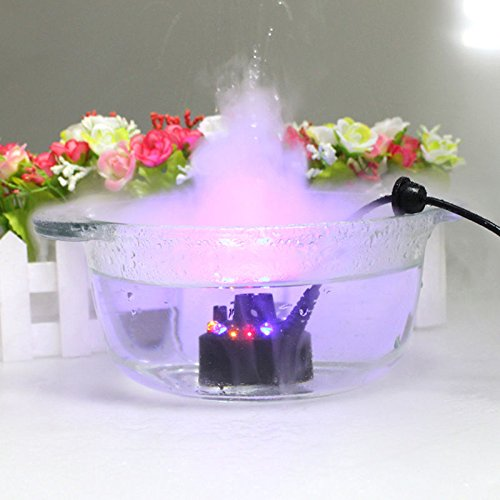 aAGPTEK Mist Maker Fogger Water Fountain Pond Fog Machine Atomizer Air Humidifier 12 LED by aAGPTEK
