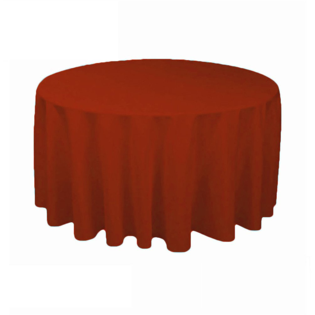 TRLYC 50 White Polyester Tablecloth Wedding Table Cover Table Decor