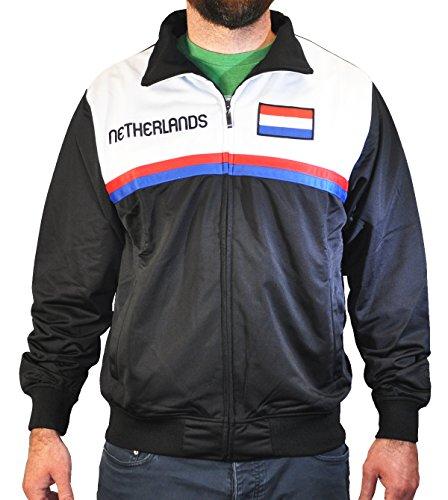 - Amdesco Men's Netherlands Dutch Pride Sport Track Jacket, Large