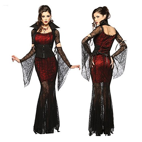 Kasstino Sexy Witch Vampire Costume for Masquerade Party Halloween Cosplay Costume Adult