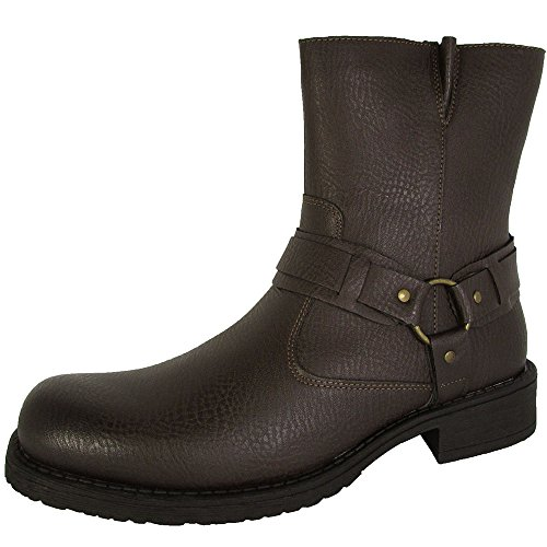 Resolve by Robert Wayne Mens Griff Harness Boot Shoes, Textured Brown, US 11