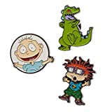 90s merchandise - Nickelodeon Rugrats Lapel Pin 3 Pack Set