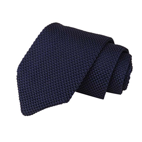 (New Novelty Unisex Men Knitted Crochet Stripe Necktie Wedding Party Classic Neck Formal Business Ties (J))