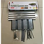 """Galvanized Steel Raised Garden Beds - 48"""" x 48"""" x8"""" 6 Sturdy Galvanized Steel construction LONG LASTING and CORROSION RESISTANT EASY ASSEMBLY"""