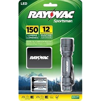 Rayovac Sportsman 150 Lumen 2CR123A LED Flashlight with