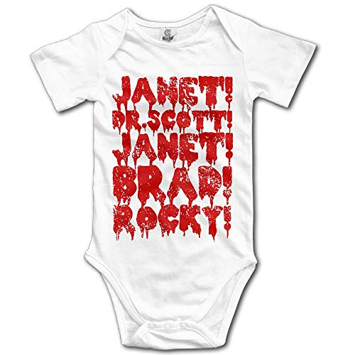 TCJX Fashion Cotton Breathable Baby Onesie The Rocky Horror Picture Show Romper Climb Cloth White