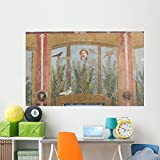 Fresco Painting from House Wall Mural by Wallmonkeys Peel and Stick Graphic (72 in W x 46 in H) WM66893