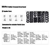 180 Pieces Rubber Grommet Assortment Kit Electrical