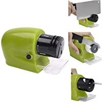 Zoro Professional Electric Knife Sharpener Swifty Sharp Motorized Knife Sharpener Rotating Sharpening Stone Sharpening Tool - Green Color.
