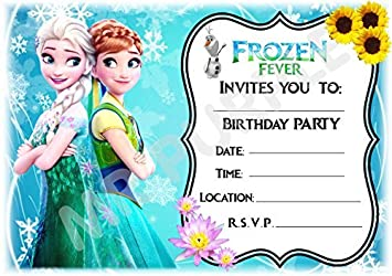 Disney Frozen Birthday Party Invites Anna Elsa Olaf Design Party