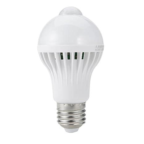 E27 7 W LED infrarrojo Sensor de movimiento PIR interruptor de luz bombilla lámpara auto luz