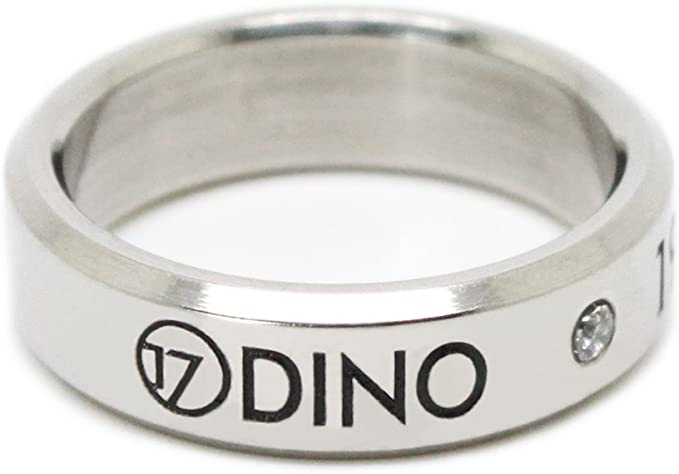 Dino Fanstown Seventeen Kpop Titanium Birthday Ring Necklace with lomo Cards