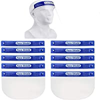 2 Pack   5 Pack   10 Pack Safety Face Shield, All-Round Protection Headband with Clear Anti-Fog Lens, Lightweight...