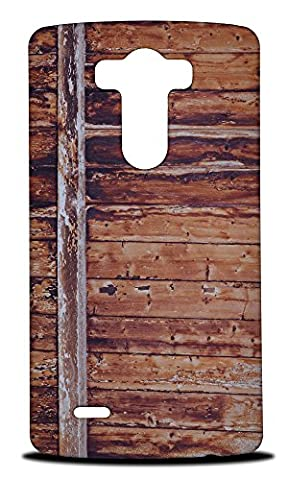 Foxercase Designs Cool Wood (Not Real Wood) #2 Hard Back Case Cover for LG G3 (Real Wood Cover For Lg G3)